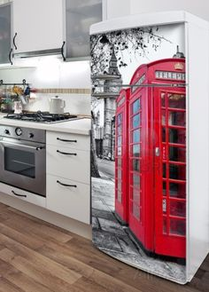 London Phone Box Refrigerator Decal Wall Decal at AllPosters.com