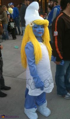 Smurfette - 2012 Halloween Costume Contest