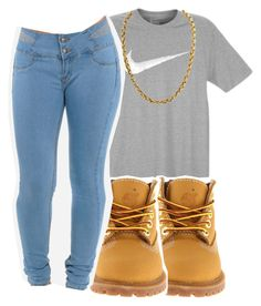 """""""#schoolfits"""" by eazybreezy305 on Polyvore featuring NIKE, Timberland, schoolflow, schoolstyle and bts"""