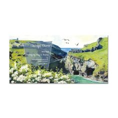 Tintagel Castle Blank Greetings Card : Art Print, Unique Greeting Cards, Quality Birthday Cards and Luxury Christmas Cards by Paradis Terrestre