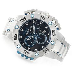 636-723 - Invicta Reserve 52mm Excursion 2.0 Swiss Made Quartz Chronograph Stainless Steel Bracelet Watch