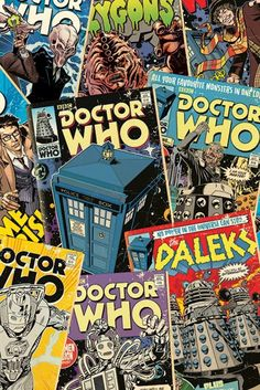 Doctor Who - Comic Montage - Official Poster. Official Merchandise. Size: 61cm x 91.5cm. FREE SHIPPING