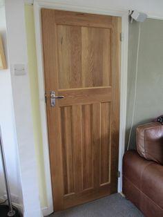 Solid Oak Internal 1930's Style Door. One over three panel door. 1930s panel door. http://www.ukoakdoors.co.uk/solid-oak-internal-1930s-style-door_p23637741.htm