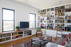 Built in book shelves and light- what more could a gal ask for?