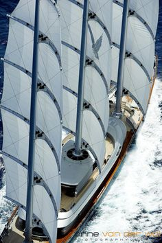 The Maltese Falcon built by Perini Navi in Tuzla, Turkey is a ship-rigged sailing luxury yacht. Spectacular!!