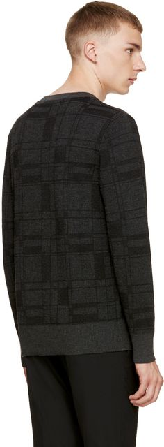 Tiger of Sweden - Grey Plaid Trans Sweater