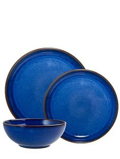 The Studio of Tableware Denby Kitchen Imperial Blue 12 Piece Dinner Set Stoneware  sc 1 st  Pinterest : studio of tableware - pezcame.com