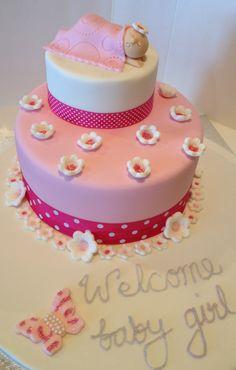 Baby girl cake Shower