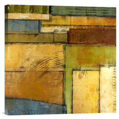 Global Gallery Modern Study 32 by Fischer-Warnica Painting Print on Wrapped Canvas
