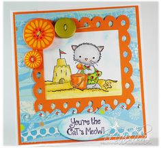 Card by Marsha (Stamping Down South). Clear stamp designed by Mabelle R.O, available at The Crafts Meow stamps.