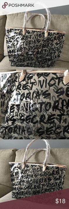 NEW Victoria's Secret Clear Logo Tote Bag Purse M Medium size, brand new . Clear with logo VS. Victoria's Secret Bags Totes