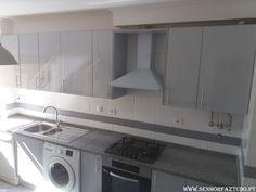 SENHOR FAZ TUDO - Faz tudo pelo seu lar !®: Montagem de uma cozinha em termolaminado cinza