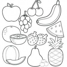 Fruit Coloring Sheets Free Fruit Coloring Pages Astonishing Fruit - Coloring Page Ideas Vegetable Coloring Pages, Fruit Coloring Pages, Colouring Pages, Free Coloring, Coloring Sheets, Coloring Books, Kids Coloring, Dinners For Kids, Kids Meals
