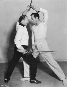Basil Rathbone & Fred Cavens