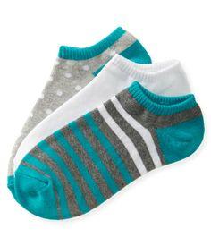 3-Pack Striped Mix Ped Socks