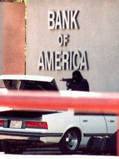 I believe this is from a bank robbery in North Hollywood that happened in the near my home at the time. A policemen was killed. Will have to check but picture reminds me of that day. Was very surreal to hear the shooting. North Hollywood Shootout, Sweat Lodge, Urban Nature, By Any Means Necessary, Photography Jobs, Color Photography, White Photography, Gray Matters, Bank Of America