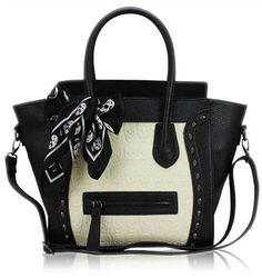 Womens-Ladies-Designer-Leather-Style-Celebrity-Tote-Bag-Smile-Shoulder-Hand-Bag
