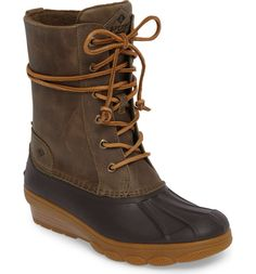 Sperry Saltwater Wedge Reeve Waterproof Boot (Women) available at Cute Snow Boots, Winter Snow Boots, Winter Shoes, Saltwater Duck Boot, Sperry Duck Boots, Nordstrom Anniversary Sale, Clearance Shoes, Wedge Boots, Waterproof Boots