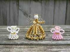 My Craft Creations: Beaded Angels
