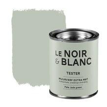 Le Noir & Blanc muurverf extra mat pale jade green 100 ml Ik hou zoooooveel van deze kleur. Ik vind het gewoon zo mooi. Het is heel rustig, maar toch echt een speciale kleur. Echt mooi zo'n pasteltintje!