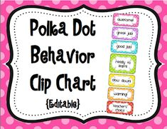 Behavior Clip Charts {TPT Store}