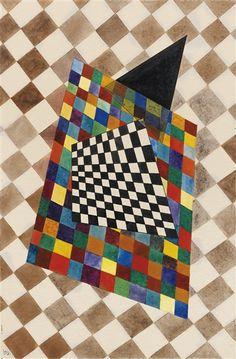 Wassily Kandinsky, Kariertes, 1925