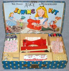 Alice in Wonderland sewing kit  What a fab idea for presents.