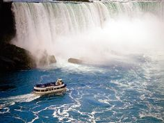 Niagra Falls, Ontario - -? Maid of the Mist is a MUST when in Niagra Falls! It is an unforgettable boat ride!