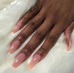 Acrylic nails coffin pink, pink nail, coffin nails, dope nails, nails on fl Aycrlic Nails, Dope Nails, Hair And Nails, Coffin Nails, Pink Gel Nails, Nails 2018, Cute Acrylic Nails, Acrylic Nail Designs, Light Pink Acrylic Nails