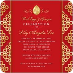 One of our new Red Egg and Ginger Celebration party invitations!