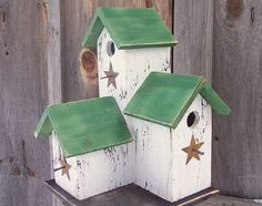 simple primitive birdhouse | Primitive Country Condo Birdhouse White and by birdhouseaccents, $45 ...