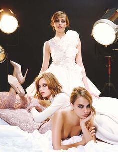 Cara Delevingne, Nadja Bender, Ashleigh Good for Numero September 2013