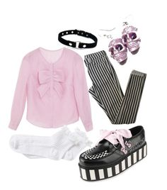 """""""Pastel Goth"""" by emochick42 ❤ liked on Polyvore featuring moda, Topshop, River Island, women's clothing, women's fashion, women, female, woman, misses e juniors"""