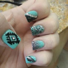 Teal, Black and Silver