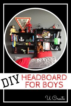 DIY Headboard for Boys (and Special Vinyl Offer) - UCreate