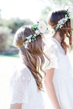 Sweet flower crowns: http://www.stylemepretty.com/australia-weddings/western-australia-au/2015/06/04/casual-rustic-western-australia-farm-wedding/ | Photography: Nicolle Versteeg - http://nicolleversteeg.com/