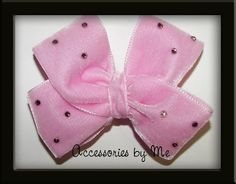 Glitzy Velvet Light Pink Girls Hair Bow by accessoriesbyme on Etsy