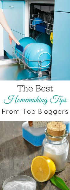 Top homemaking tips from top homemaking bloggers, cleaning tips, organizing tips, food tips