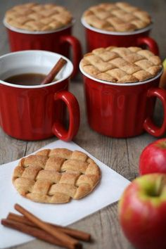 Apple Recipes These pie crust cider toppers are adorable! As are all the other delicious apple recipes on this post. Best Apple Recipes, Fall Recipes, Sweet Recipes, Favorite Recipes, Apple Cookies, Sugar Cookies, Cinnamon Cookies, Coffee Cookies, Good Food
