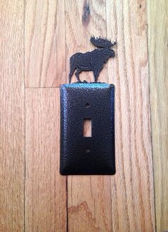 Moose Single Toggle SwitchPlate by OLHF on Etsy, $9.00