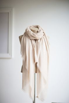 The Little Black Dress Boutique Limited. Tutti & Co Stone + Gold Metallic Scarf - S092