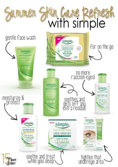 Best products from Simple Skin Care | Try this product line for your Summer skin care. #youresopretty