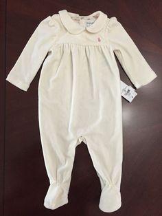 Ralph Lauren Childrenswear Infant Girls' Solid Velour Coverall 9 Months #RalphLauren #DressyEverydayHoliday