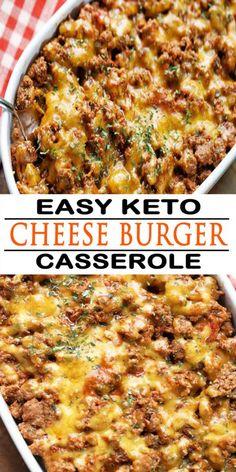 Ketogenic Recipes, Low Carb Recipes, Beef Recipes, Healthy Recipes, Ground Beef Keto Recipes, Healthy Ground Beef, Healthy Casserole Recipes, Keto Casserole, Cheeseburger Casserole Low Carb