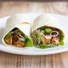 Hoisin Chicken Wraps. My speedy weekday version of Peking Duck Pancakes. Delicious hot or cold (great for picnics) and super fast!