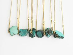 Turquoise nugget necklace by Vamoose.