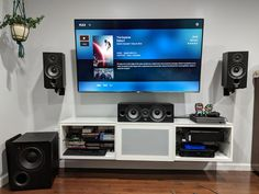 Finished my home theater setup! What do you think? : hometheater Finished my home theater setup! What do you think? Home Theater Setup, Home Office Setup, Theatre, Modern Tv Room, Basement Remodeling, Remodeling Ideas, Home Room Design, Electronics Projects, House Rooms