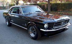 Raven Black 1967 Mustang