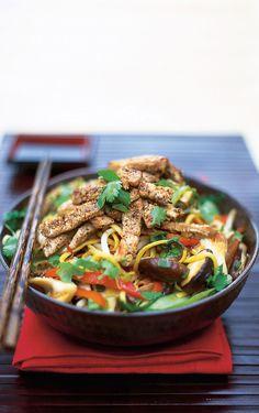 oriental pork with noodles | Jamie Oliver | Food | Jamie Oliver (UK)    http://www.jamieoliver.com/recipes/pork-recipes/oriental-pork-with-noodles