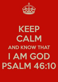 God is there.